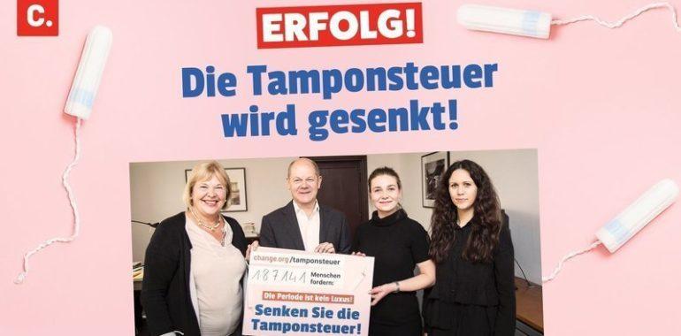 Bundestag beschließt Senkung der Tamponsteuer